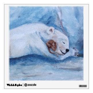 Sleeping Buddies Bear and mouse Wall Sticker