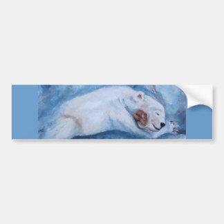 Sleeping Buddies Bumper Sticker
