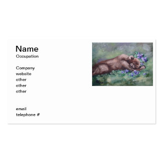 Sleeping Buddies II Double-Sided Standard Business Cards (Pack Of 100)
