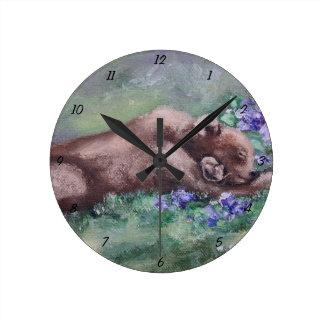 Sleeping Buddies II Round Clock