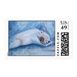 Sleeping Buddies Postage Stamp