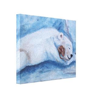Sleeping Buddies Stretched Canvas Print