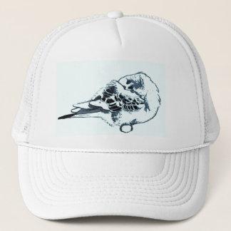 Sleeping Budgie Drawing Trucker Hat