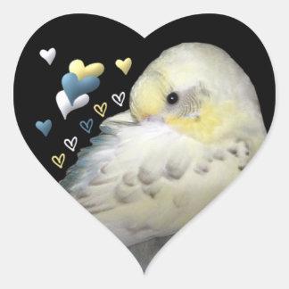 Sleeping budgie love sticker
