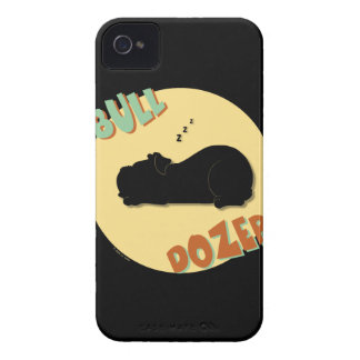 Sleeping Bulldog - Bull Dozer Case-Mate iPhone 4 Case