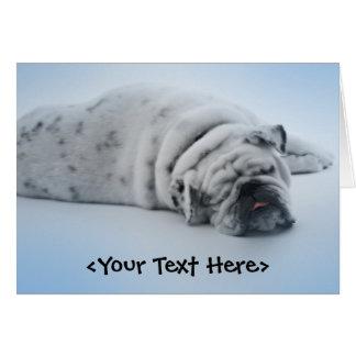 Sleeping Bulldog Card