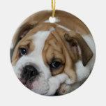 Sleeping Bulldog Ornament