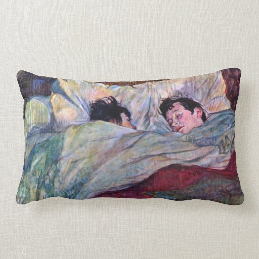 Sleeping by Toulouse-Lautrec Throw Pillow
