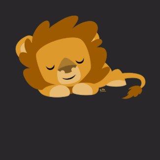 Sleeping Cartoon Lion T-shirt shirt