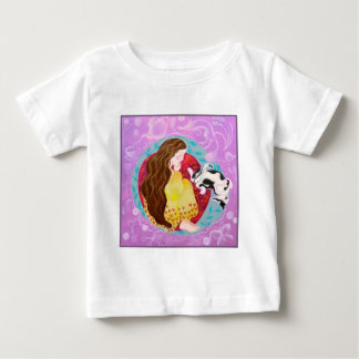 Sleeping Cat and Sleeping Lady. Baby T-Shirt