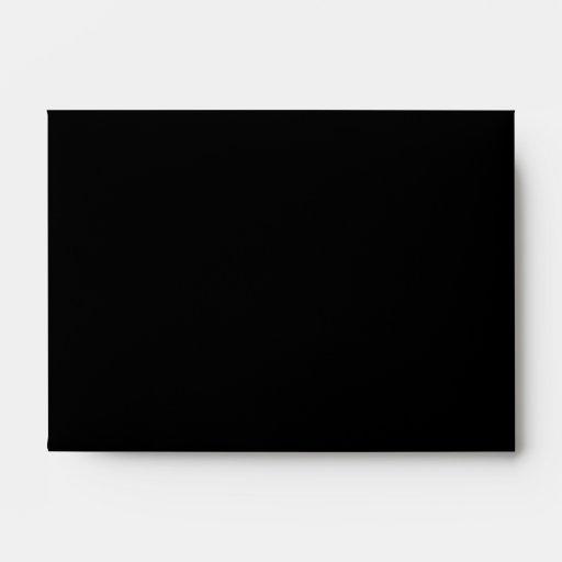 Sleeping Cat and Sleeping Lady. On Black. Envelope