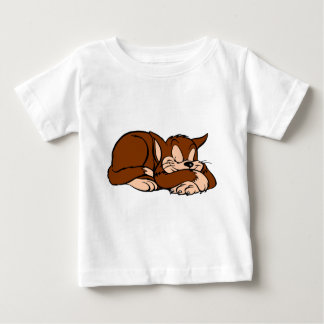 Sleeping Cat Baby T-Shirt