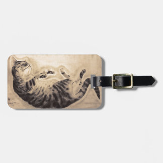 Sleeping Cat Bag Tag