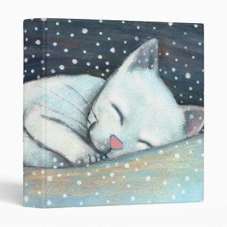 sleeping cat 3 ring binder