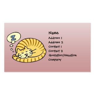 Sleeping Cat Business Cards