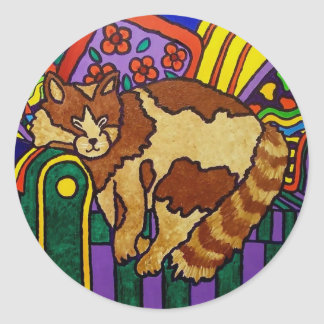Sleeping Cat by Piliero Classic Round Sticker