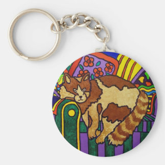 Sleeping Cat by Piliero Key Chains