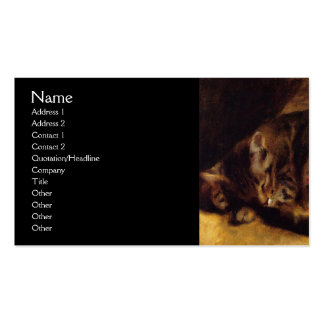 Sleeping Cat by Renoir Double-Sided Standard Business Cards (Pack Of 100)