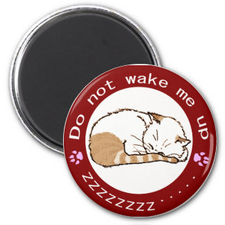 sleeping cat (Circle) 2 2 Inch Round Magnet
