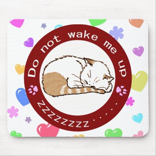 sleeping cat (Circle) 2 Mouse Pad