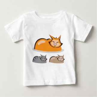 Sleeping Cat colors Baby T-Shirt