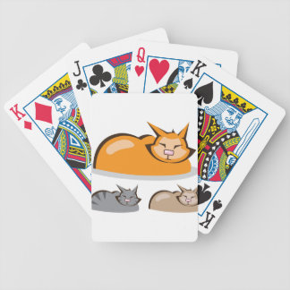 Sleeping Cat colors Bicycle Playing Cards