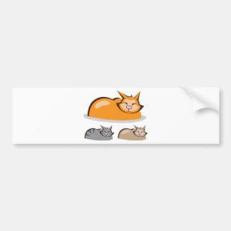 Sleeping Cat colors Bumper Sticker