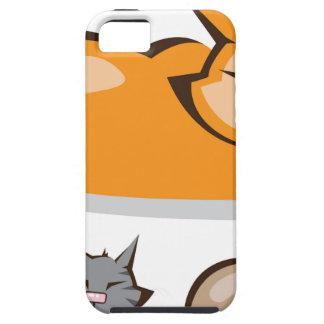 Sleeping Cat colors iPhone SE/5/5s Case