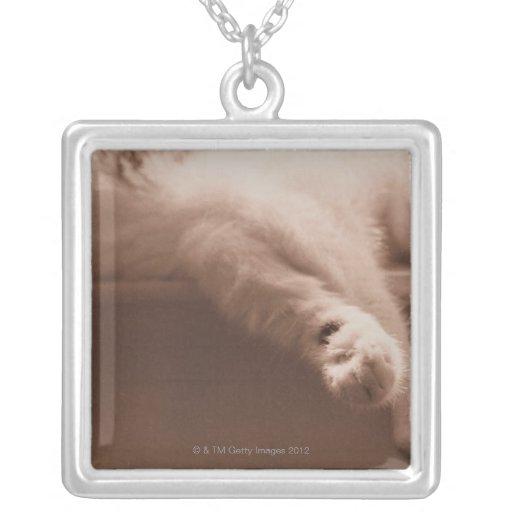 Sleeping Cat Custom Necklace