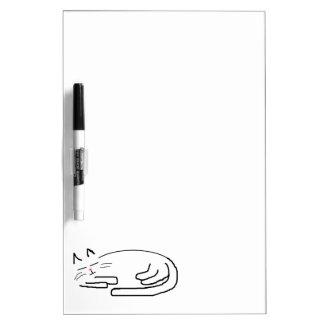 Sleeping Cat Doodle Dry-Erase Board