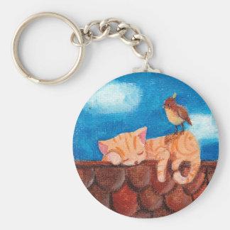 Sleeping Cat Keychain