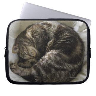 Sleeping cat laptop computer sleeves