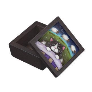 Sleeping Cat & Mice Fantasy Art Premium Gift Box