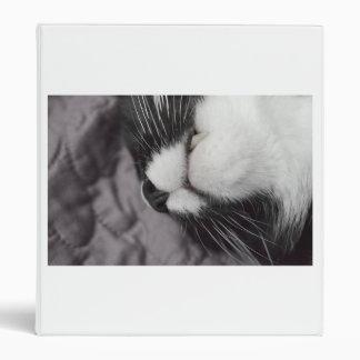 sleeping cat nose upside down kitty binder