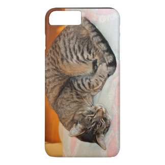 Sleeping Cat On A Fuzzy Blanket iPhone 7 Plus Case