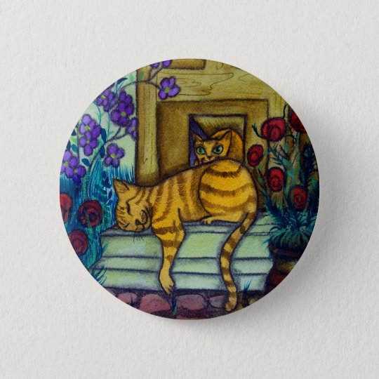 Sleeping Cat Pinback Button