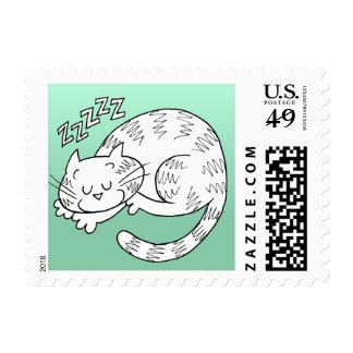 Sleeping Cat Stamps