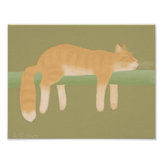 Sleeping Cat Poster Paper (Matte)