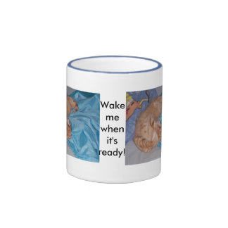 Sleeping Cat Ringer Mug