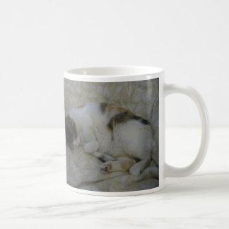 Sleeping Cat - Wake me up when the coffee's ready Coffee Mug