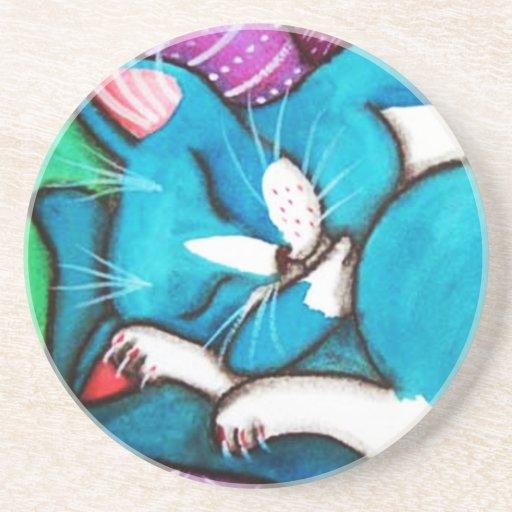 Sleeping Cats Beverage Coasters