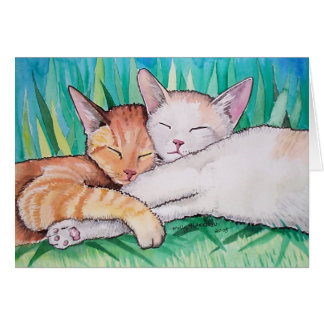 Sleeping Cats Card by Molly Harrison