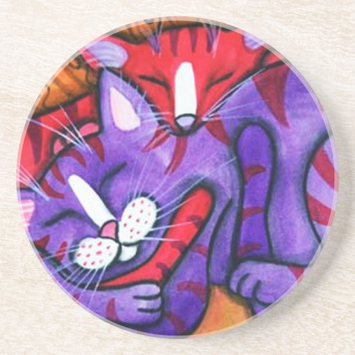 Sleeping Cats Coaster