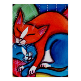 Sleeping Cats Postcard