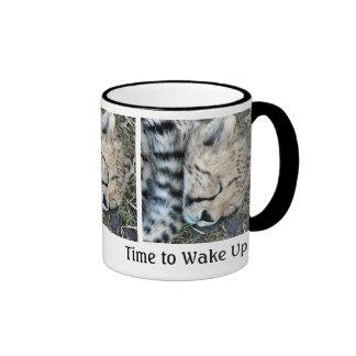 Sleeping Cheetah Cub Photo Ringer Coffee Mug