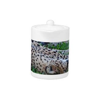 Sleeping Cheetah Teapot