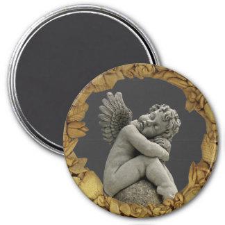 Sleeping Cherub Angel Sculpture Magnet