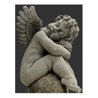 Sleeping Cherub Angel Sculpture Post Card. Postcard