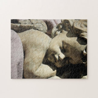 Sleeping Cherub Christmas Angel Jigsaw Puzzle