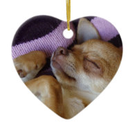 Sleeping Chihuahua Christmas Tree Ornament